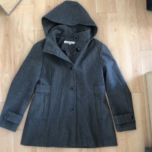 KENNTH COLE Grey Wool Coat